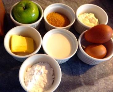 Ingredientes para elaborar Tarta de Manzana