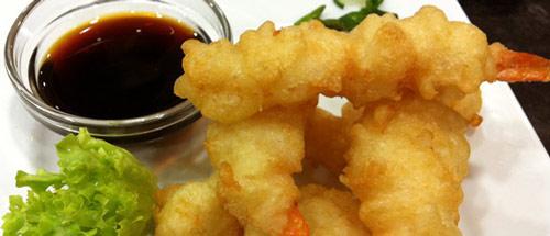 Pescados en tempura