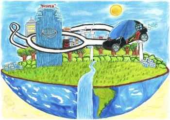 'Mi futuro con ruedas', dibujo de Stefano di Carlo (9 años)