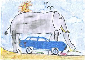 'La Naturaleza es libre', dibujo de Pablo de la Parte (7 años)