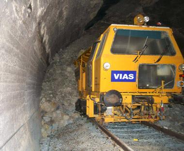 Derrumbamiento en el Túnel de Robregordo |  Bateadora