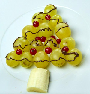 Árbol de Navidad de uvas