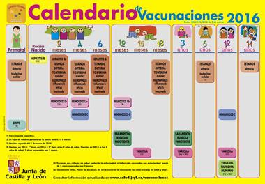 Calendario de Vacunaciones CyL
