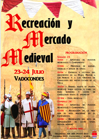 Recreación y Mercado Medieval en Vadocondes