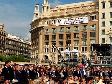 Actos en la Plaza de Cataluña