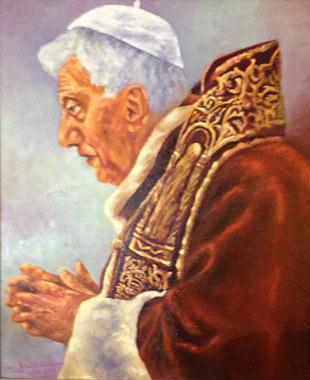 Jesús Ángel Lozano Jeanloi. Papa Benedicto XVI