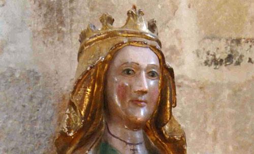 Detalle del rostro de la Virgen manca