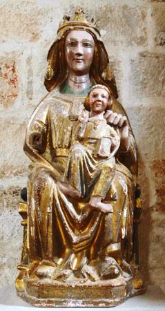 La Virgen manca de Vadocondes vista de frente